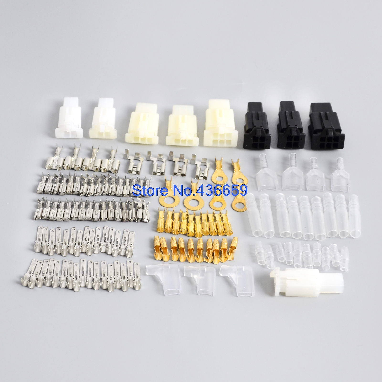 Motorcycle Connector Wiring Loom Automotive Harness Auto Terminal Repair Kit  PVC Insulation Covers Tin Plate Brass Terminals-in Fuses from Automobiles  ...
