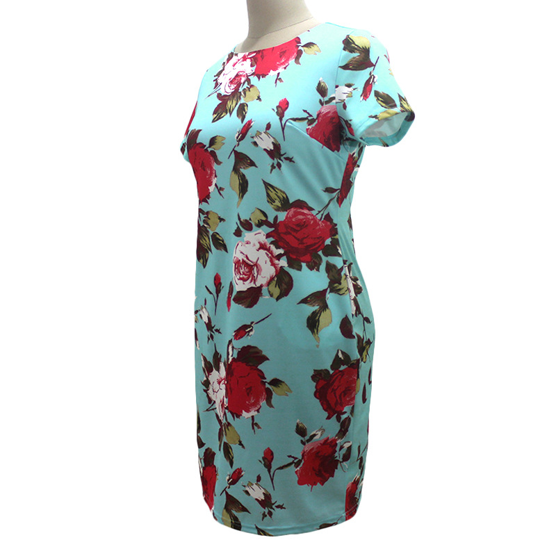 HTB1ZKnVXe2CK1JjSZFjq6xk VXaN 2019 Autumn Plus Size Dress Europe Female Fashion Printing Large Sizes Pencil Midi Dress Women's Big Size Clothing 6XL Vestidos