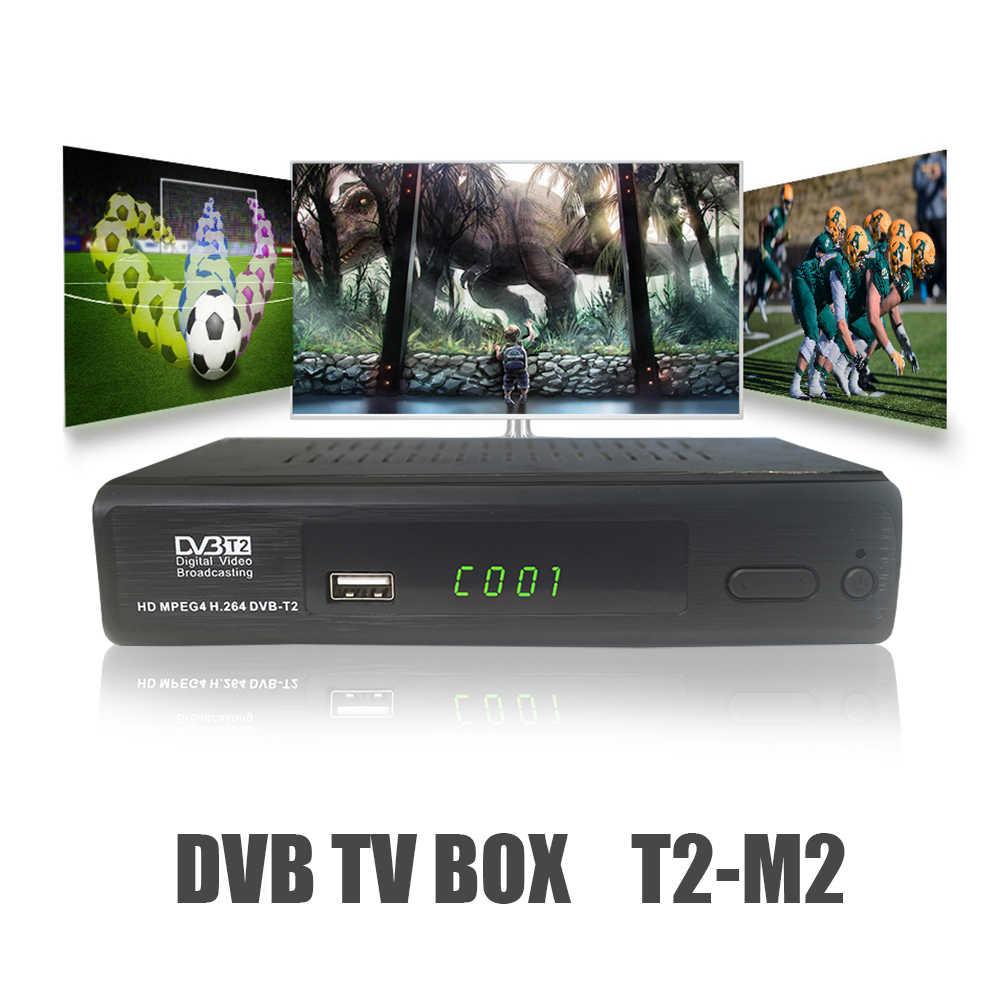 Vmade DVB-T2 M2 HD цифровой наземный ТВ приемник тюнер H.264 MPEG-4/2 поддерживает YouTube PVR DVB-T2 телеприставка для Украины