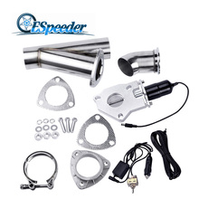 ESPEEDER 2.0″ Exhaust System Exhaust Catback Downpipe Cutout E-Cut Valve Cut Out Muffler With Manual Switch Car Modified Part