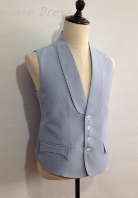 Free shipping Tailor Made Vest Man Suits Four Button Groomsman Tuxedos Men Wedding Vest