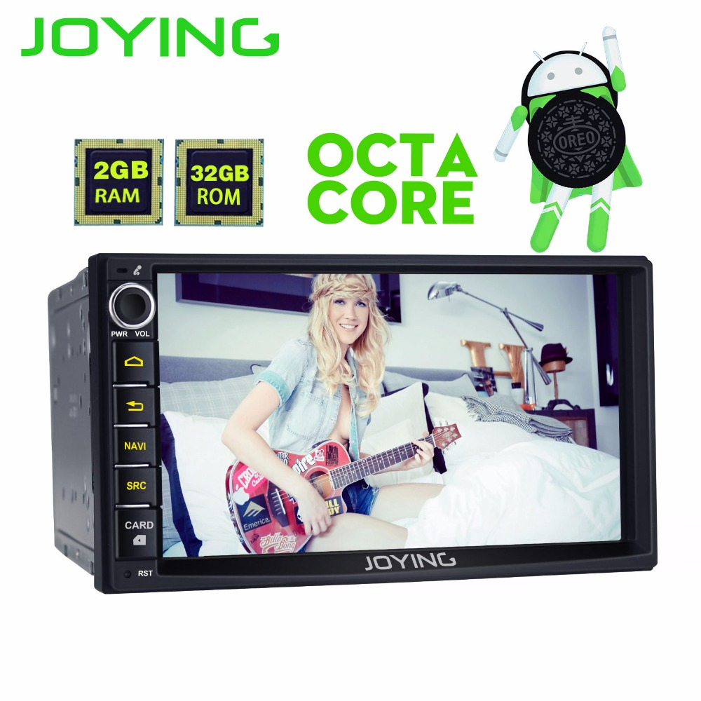 JOYING 2 GB RAM 32 GB ROM Android 8.0 Octa 8 Core Car Audio Stereo GPS Navigator 2 Din 7 inch 1024*600 Autoradio support carplay