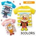 2016 ¡ Nuevo!! Anpanman niños de manga corta niños niñas camiseta de la historieta niños Del Bebé camisetas de algodón 100%