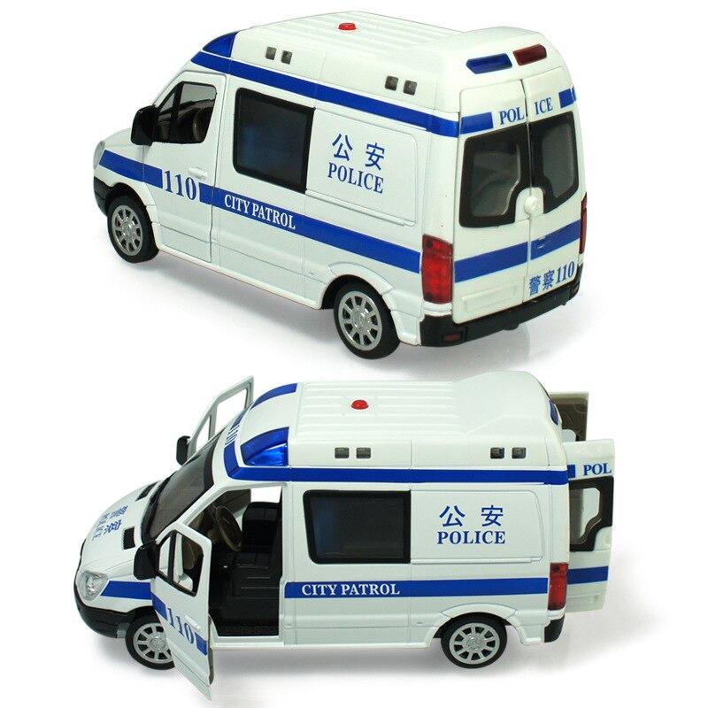 Alloy policeman car 110 ambulances 120 pull back flashing music boy car toys model 1 32