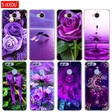 Телефон силиконовый чехол для huawei Y3 Y6 Y5 2 II Новинка 2017 3e 2 s 2 LITE plus infinity на фиолетовый