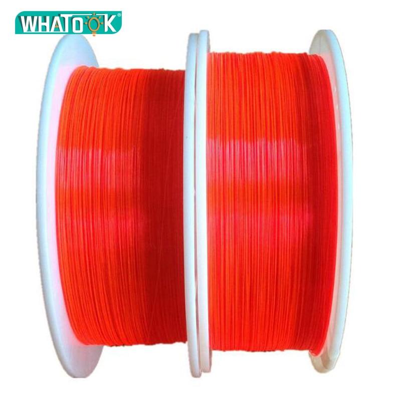 1.0mm  Fluorescent Fiber Optic Cable Red Orange Green Neon PMMA Fiber Optic For Gun Sight Lightting Decorations X 1M