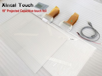 Xintai Touch 19 inch 4:3 Ratio capacitive touch foil 10 points holographic foil transparent usb touch film touch screen film фото