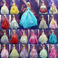 Wholesale 100 pcs/Lot  Handmade Party Doll's Dress Clothes Gown  Princess Wedding  Clothes For Barbie Doll Gift Baby Toys