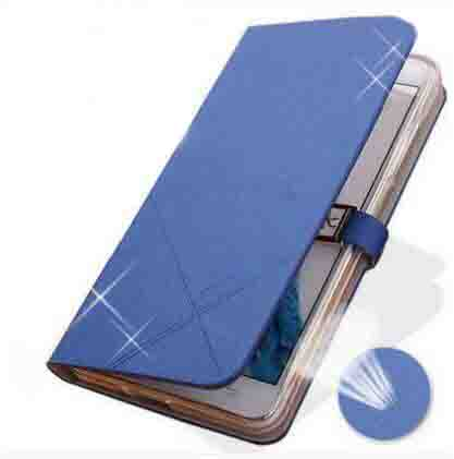 New PU leather flip open cover for Qmobiles