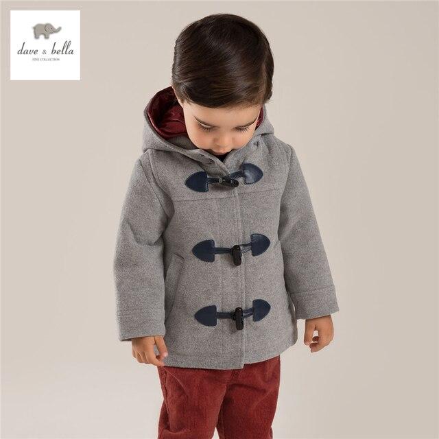 DB3861davebella  boys  grey coat children outerwear