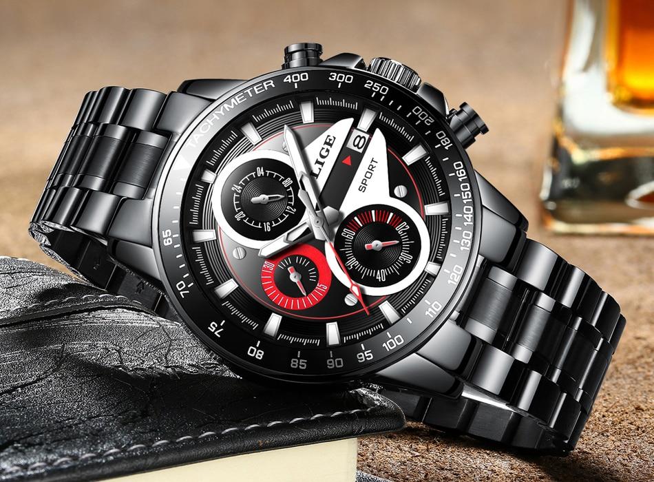 HTB1ZKp5dekJL1JjSZFmq6Aw0XXaf LIGE Fashion Men Watches Male Creative Business Chronograph Quartz Clock Stainless Steel Waterproof Watch Men Relogio Masculino