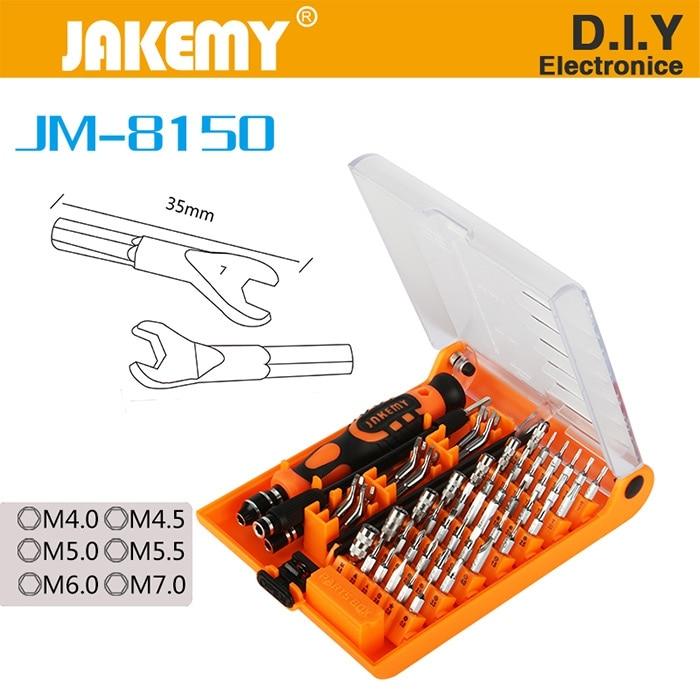 JM-8150 52 in 1 Multitools Tornavida Seti Precision Screwdriver Set For Phones Screwdriver Kit For Repair Laptops Aircraft Model