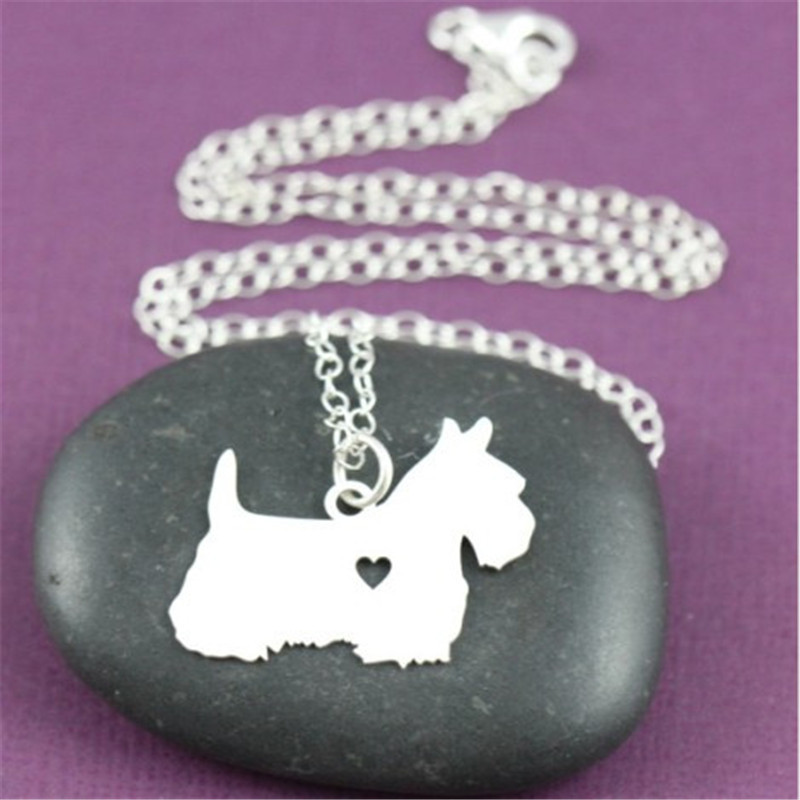 2015 Real New Natural Collares Colar For Scottish Terrier Necklace Scottie Custom Dog Pendant Jewelry Pet Personalized Pets