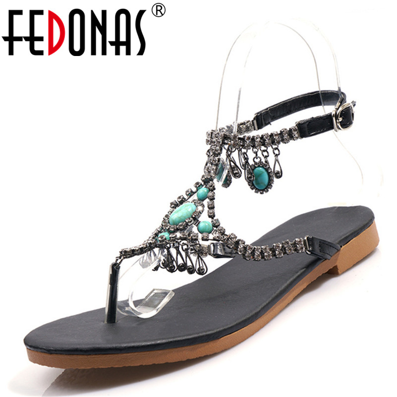 FEDONAS Classic Vintage Round Toe Shallow Concise Woman Sandals String Bead Square Heels Casual Shoes Woman Party Office ShoesFEDONAS Classic Vintage Round Toe Shallow Concise Woman Sandals String Bead Square Heels Casual Shoes Woman Party Office Shoes