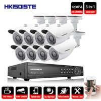 HKIXDISTE Video Surveillance System 8CH CCTV Security Kit 8PCS 1200TVL Dome Security Camera Night Vision 8CH 1080P CCTV DVR
