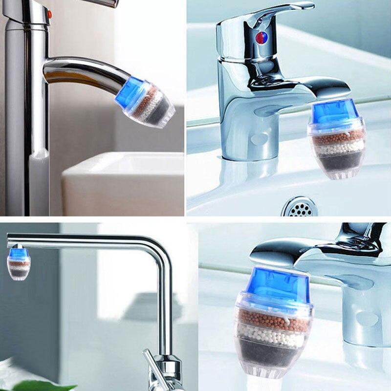 1 шт. кран водопроводный кран, фильтр, очиститель Multi-Слои Ил фильтр осветлитель чище устройства сохранение дома Кухня Аксессуары для ванной ...