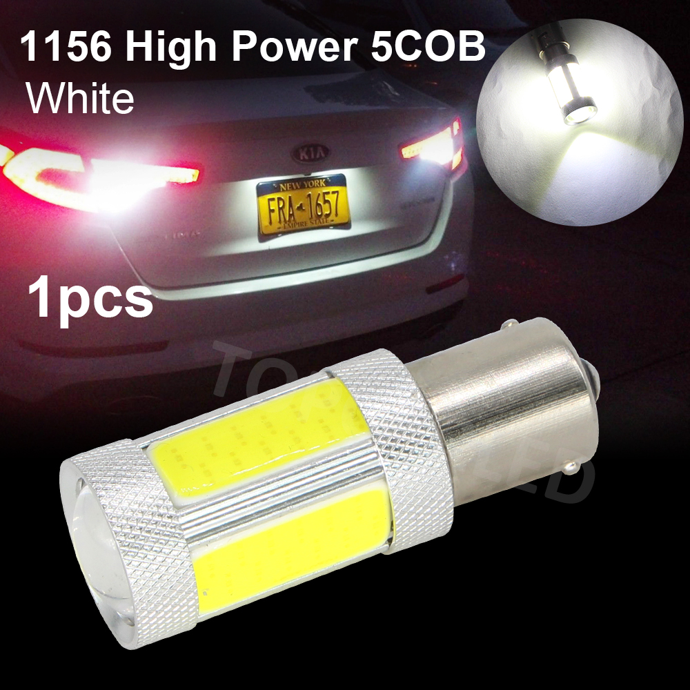 1156 5 COB BA15S Car 5 Led High Power Reverse Lamps Turn Signal Lights Parking Bulbs Backup Tail Lighting DC 12v Bright P21W