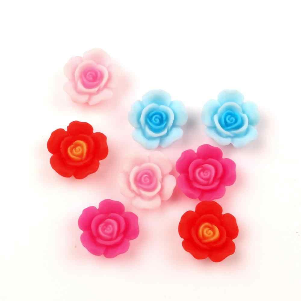 30-50 Uds. Variados de flor del escarabajo, decoración de resina, perlas artesanales, cabujón plano, Scrapbook Kawaii DIY, adornos, accesorios