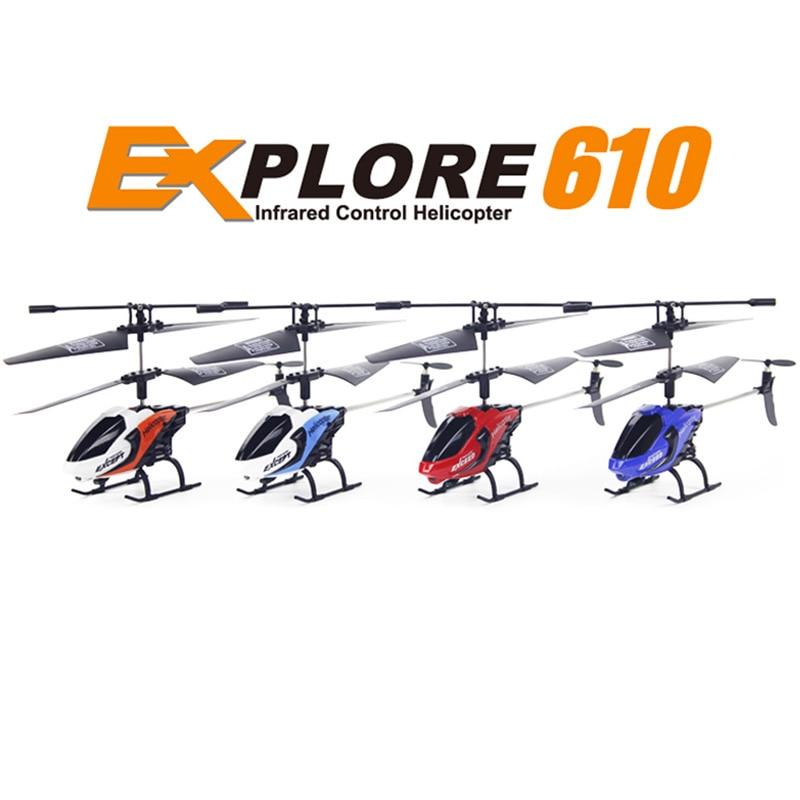 2017 nuevo helicóptero RC fq777-610 3.5ch 2.4 GHz 6 AXIS Gyro Modo 2 Control remoto helicópteros Juguetes drone Dron RTF niños regalos de navidad