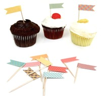 BOSHENG Lot Of 144 Cute Cartoon Baby Shower Snack Cocktail Food Picks Cupcake Toppers Mixed