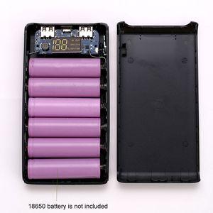 Image 2 - (Pas de batterie) double sortie USB 6x18650 batterie bricolage batterie externe support de la boîte étui pour téléphone portable tablette PC