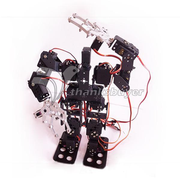 15DOF Biped Robótica Educacional Robot Kit de Montagem montado com Grampo Garra & LD-1501 Servos & Controlador