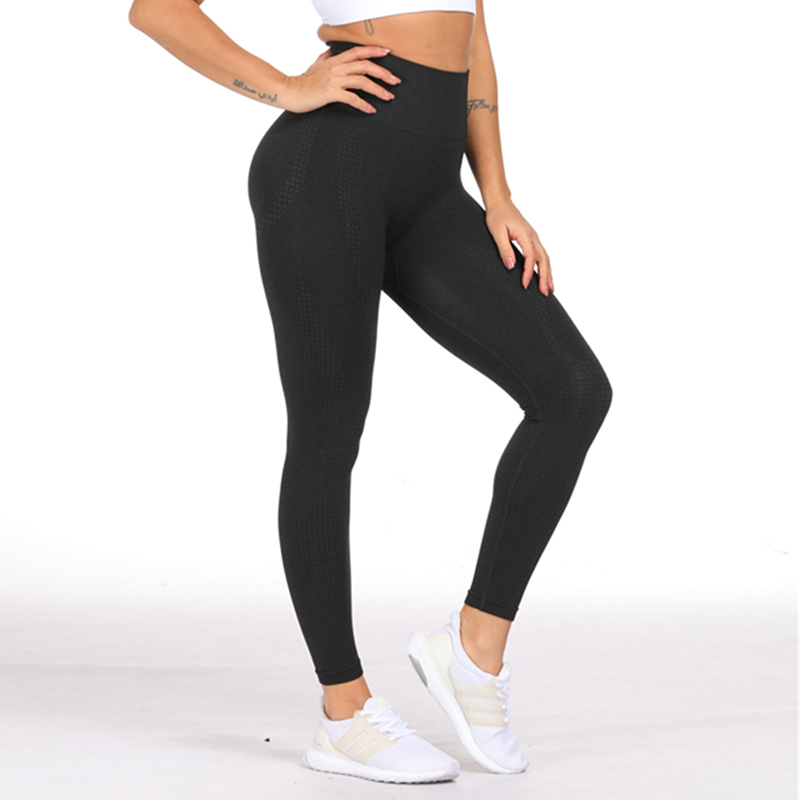 Fitness Leggings South Africa: Women's Seamless Stretchy Compression Yoga Leggings At