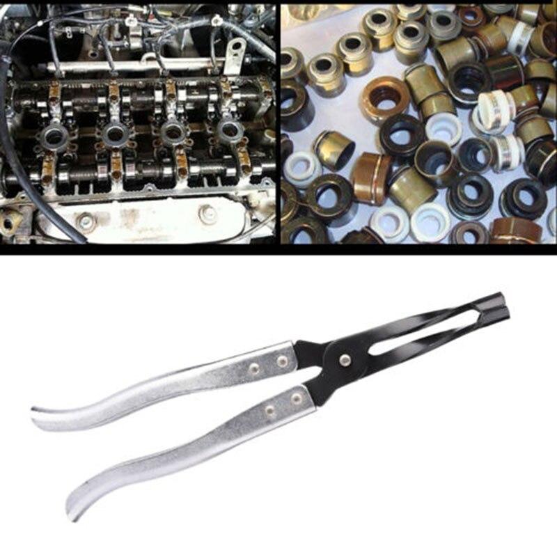 シリンダーヘッドバルブスプリングコンプレッサーキットバルブステムシールグクリップインストーラリムーバープライヤーツール車の修理ツール自動車ガレージキット車のスタイリング