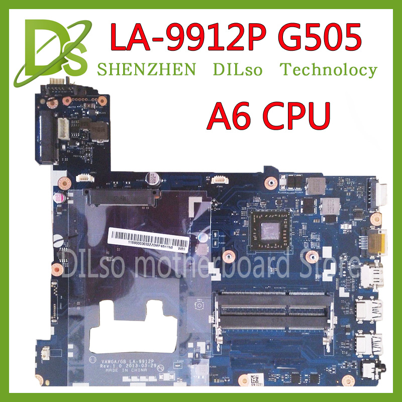 KEFU LA-9912P laptop motherboard for Lenovo ideapad g505 LA-9912P laptop motherboard A6 CPU tested motherboard hot sale brand new vawga gb la 9912p motherboard for lenovo g505 laptop mainboard with e1 2100 cpu