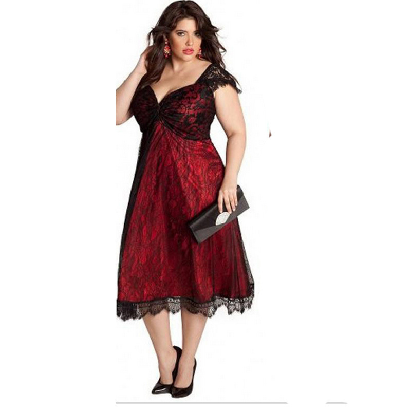 2015 Tea Length Plus Size Formal Dresses To Evening Party Gowns With