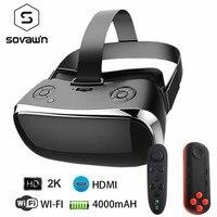 VR все в одном виртуальной реальности Гарнитура 3D Glasse 2 К 2560*1440 120 FOV 2,4 GHDMI видео коробка Bluetooth USB порт TF слот с геймпадом