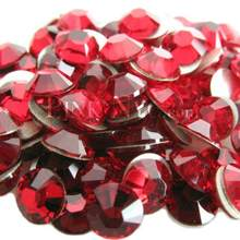 Free Shipping! 1440pcs/lot,ss4 (1.5-1.7mm) Siam color Flat Back Nail Art Non Hotfix Beads.(China)