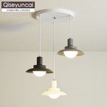Qiseyuncai Nordic style modern minimalist restaurant chandelier bar creative single head aisle bedroom lighting free shipping