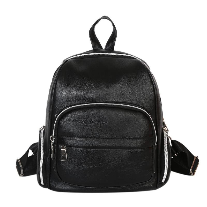 New Travel Backpack Women Leisure Student Schoolbag Mini Pu Leather Bag