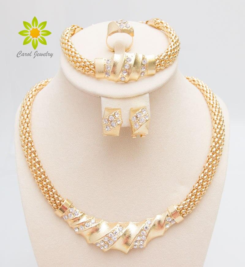 Envío libre africano oro color encantador moda romántica collar de ...