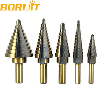 New Arrival High Quality 5pcs Set HSS COBALT MULTIPLE HOLE 50 Sizes STEP DRILL BIT SET