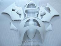 Carrosserie en plastique carénage kit pour Kawasaki Ninja ZX6R 98 99 blanc carénages ensemble ZX6R 1998 1999 HN16
