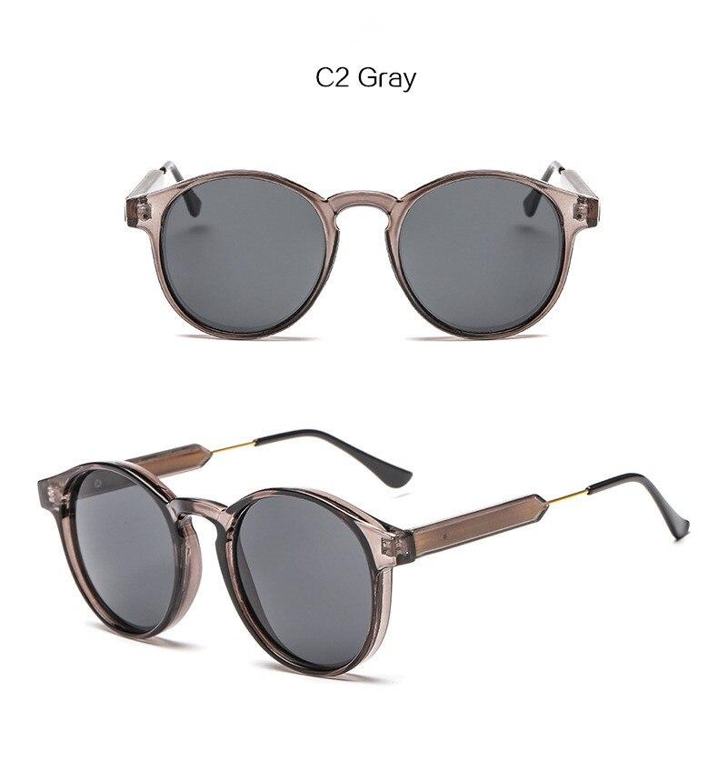 YOOSKE Projeto Retro Rodada óculos de Sol Das Mulheres Dos Homens ... 561c70e1e3