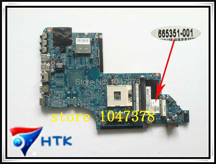 ФОТО Wholesale Motherboard for HP PAVILION DV6 DV6-6000 LAPTOP / Notebook 665351-001 HM65 DDR3 100% Work Perfect