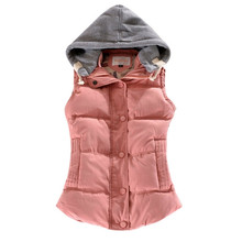 Winter Jackets Women With Hooded Autumn Oversized Coat Fashion Casual Big Plus SIZE M-4XL Sleeveless Vest Cotton chaquetas mujer