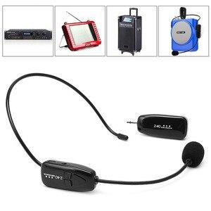 Image 3 - Беспроводной микрофон 2,4G, Речевая гарнитура, мегафон, Радио, микрофон для громкоговорителя, обучающий, для совещаний, гида, микрофон высокого качества