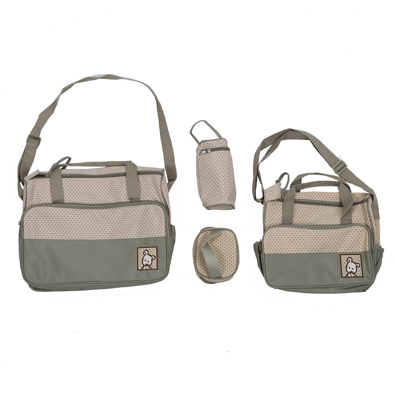 Large Bag Khaki + Bag Lunch Bag And Bottle Bag + Layer Inside Outside