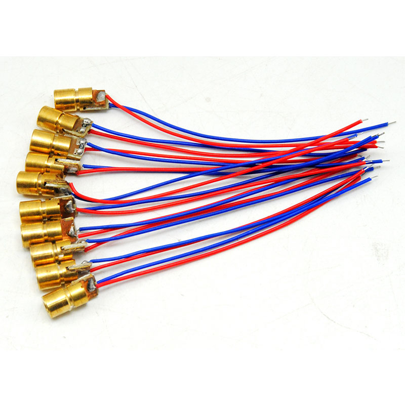 10pcs 0610 1mW 650nm Red Laser Diode Module 3VDC Dot Focusable