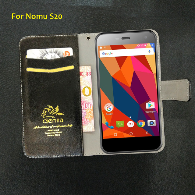 TOP New! Nomu S20 Case 5 Colors Flip Slip-resistant Leather Case Exclusive Phone Cover Credit Card Holder Wallet+Tracking
