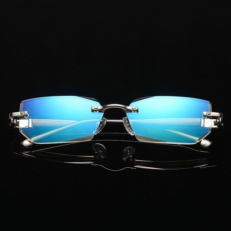 6567204bd4c32 Vazrobe Anti Luz Azul Homens Óculos De Leitura Sem Armação De Óculos para  Presbiopia Dioptria Masculino