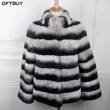 OFTBUY 2020 Winter Jacket Women Real Fur Coat Natural Rex Rabbit Fur Outerwear Brand Luxury Thick Warm Streetwear Stand Collar