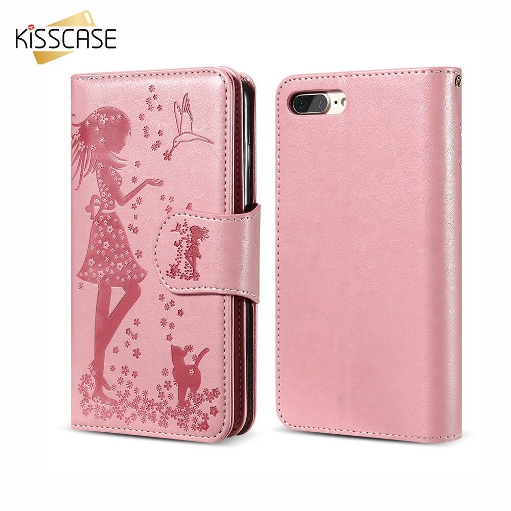 KISSCASE spegelficka stativ plånbok fodral för iPhone 5 5s SE 6s - Reservdelar och tillbehör för mobiltelefoner - Foto 6