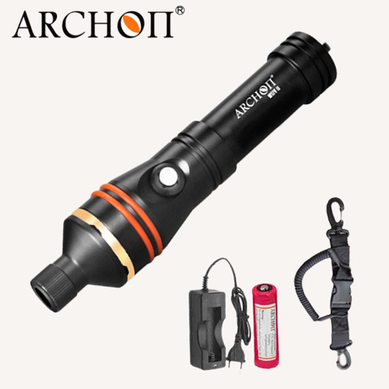 ARCHON D11V-II D11V W17v-ii W17v Diving Flashlight Underwater Spot Light Tauchlampe XM-L2 U2 Photography Video Lamp Torch 18650
