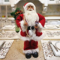 Christmas gifts Dearsun brand hot decoration 1pc Santa Claus standing figure amazing excellent quality handicraft W22*H43cm