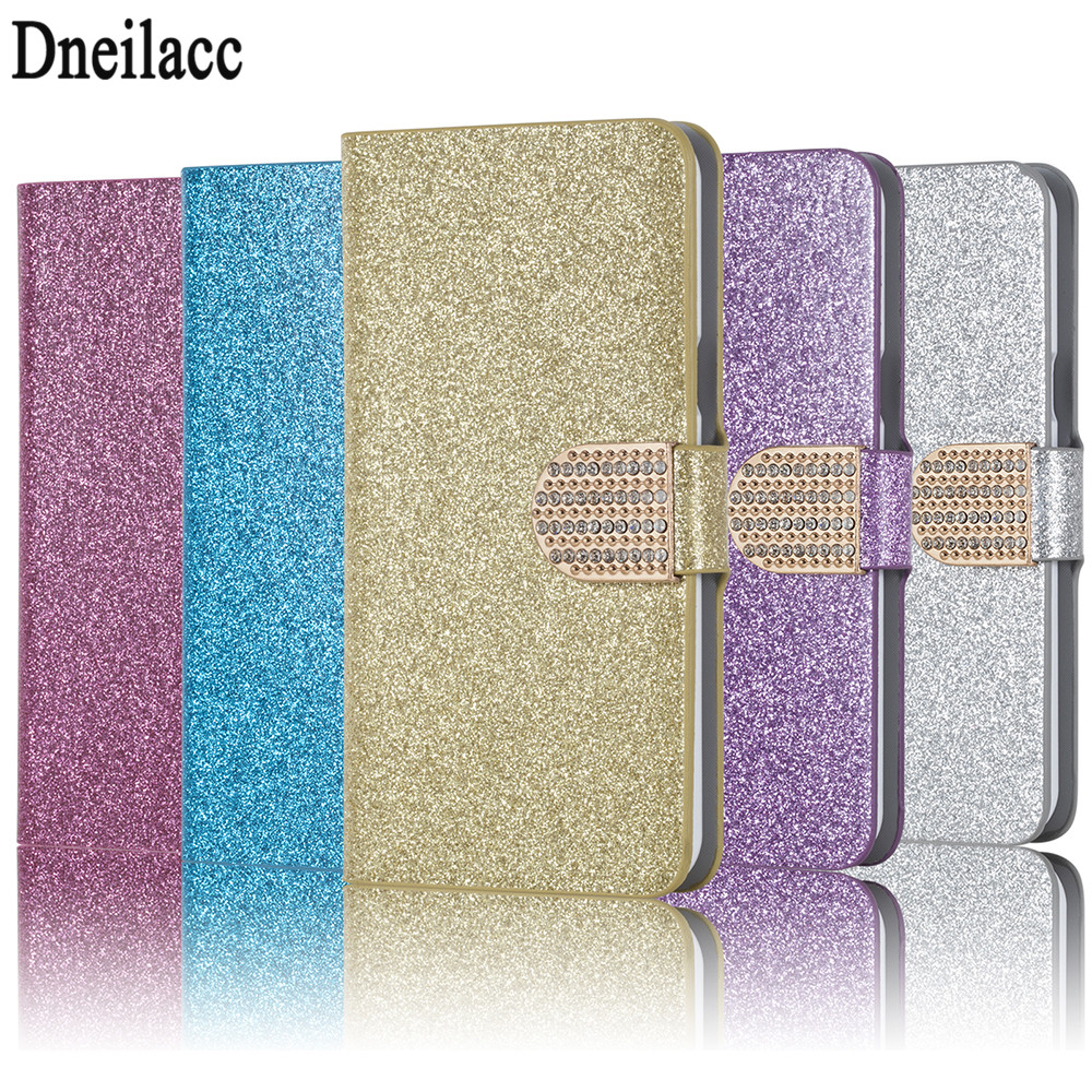New Fashion Bling Diamond Glitter PU Flip Leather mobile phone Cover Case For Alcatel One Touch Pop 2 5